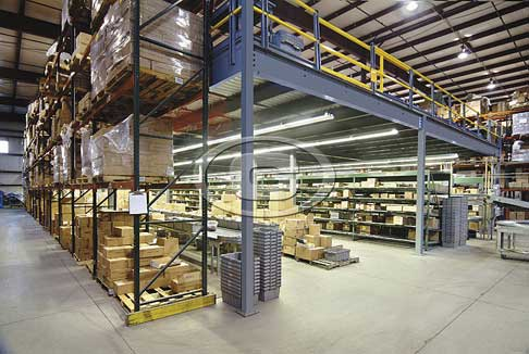 Mezzanines efficiency systems for Steel mezzanine design
